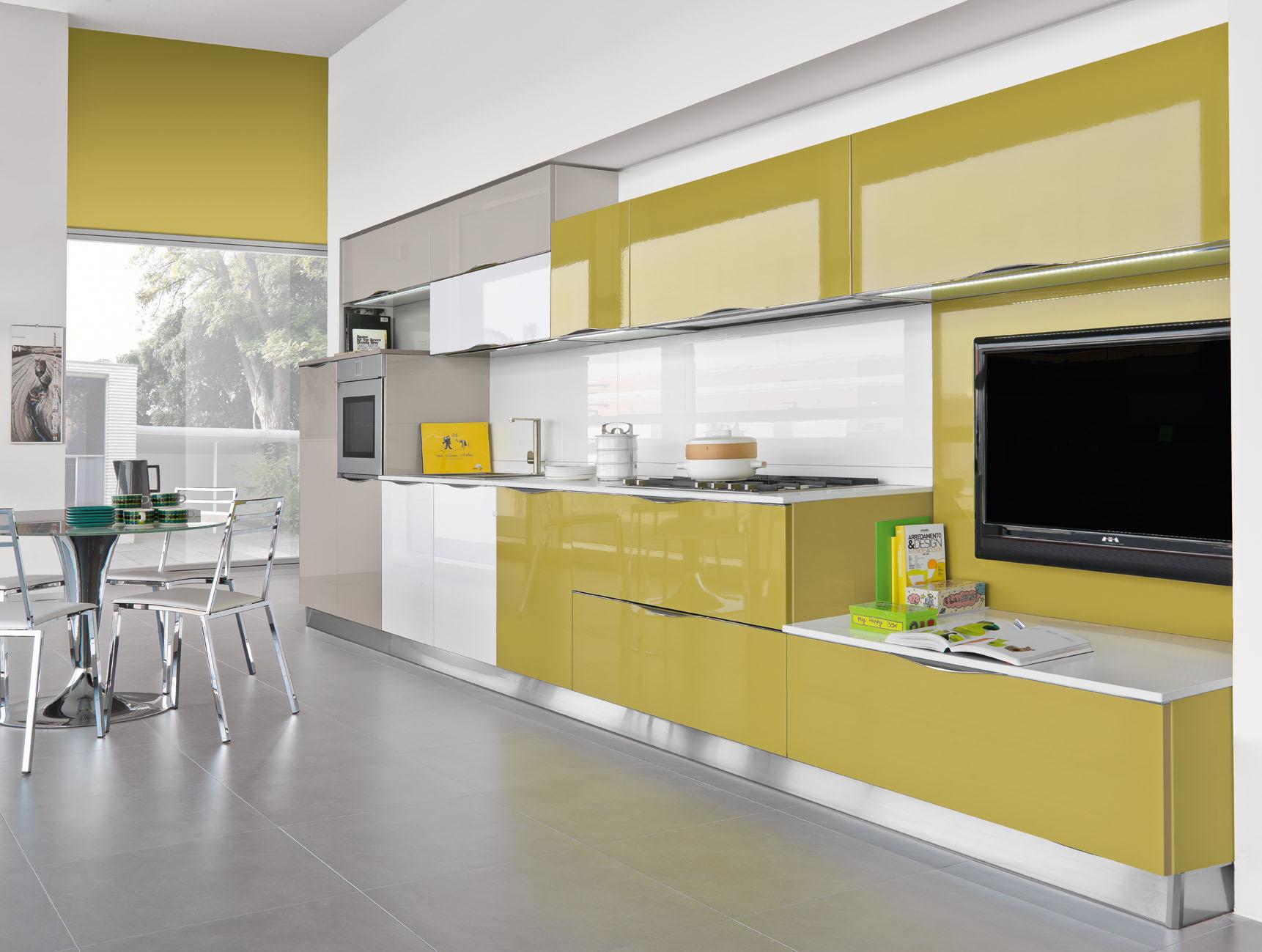 Mobili Cucina Giallo.Cucine Moderne Abitare Srl